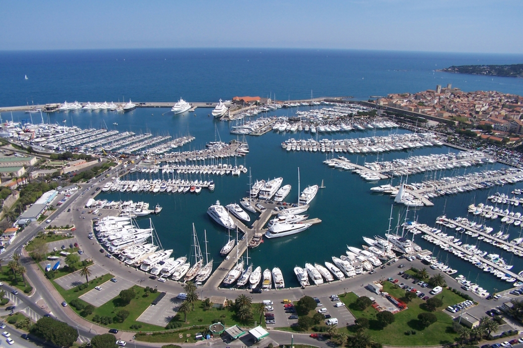 Port Vauban marina in Antibes, France