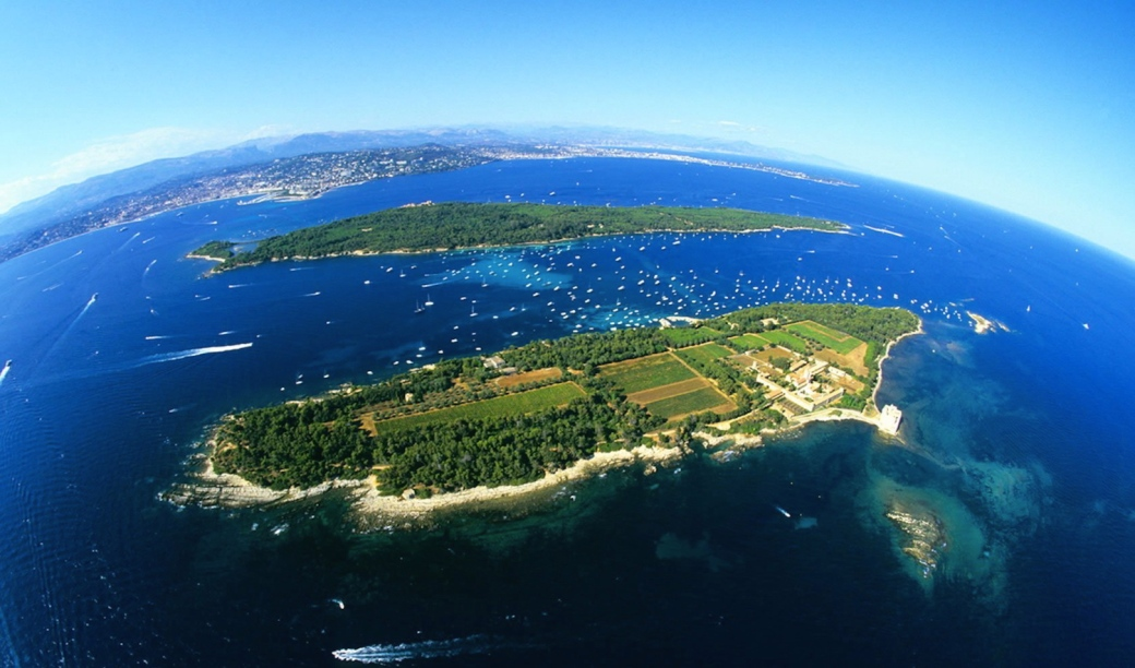 The Lerins Islands in Cannes, France