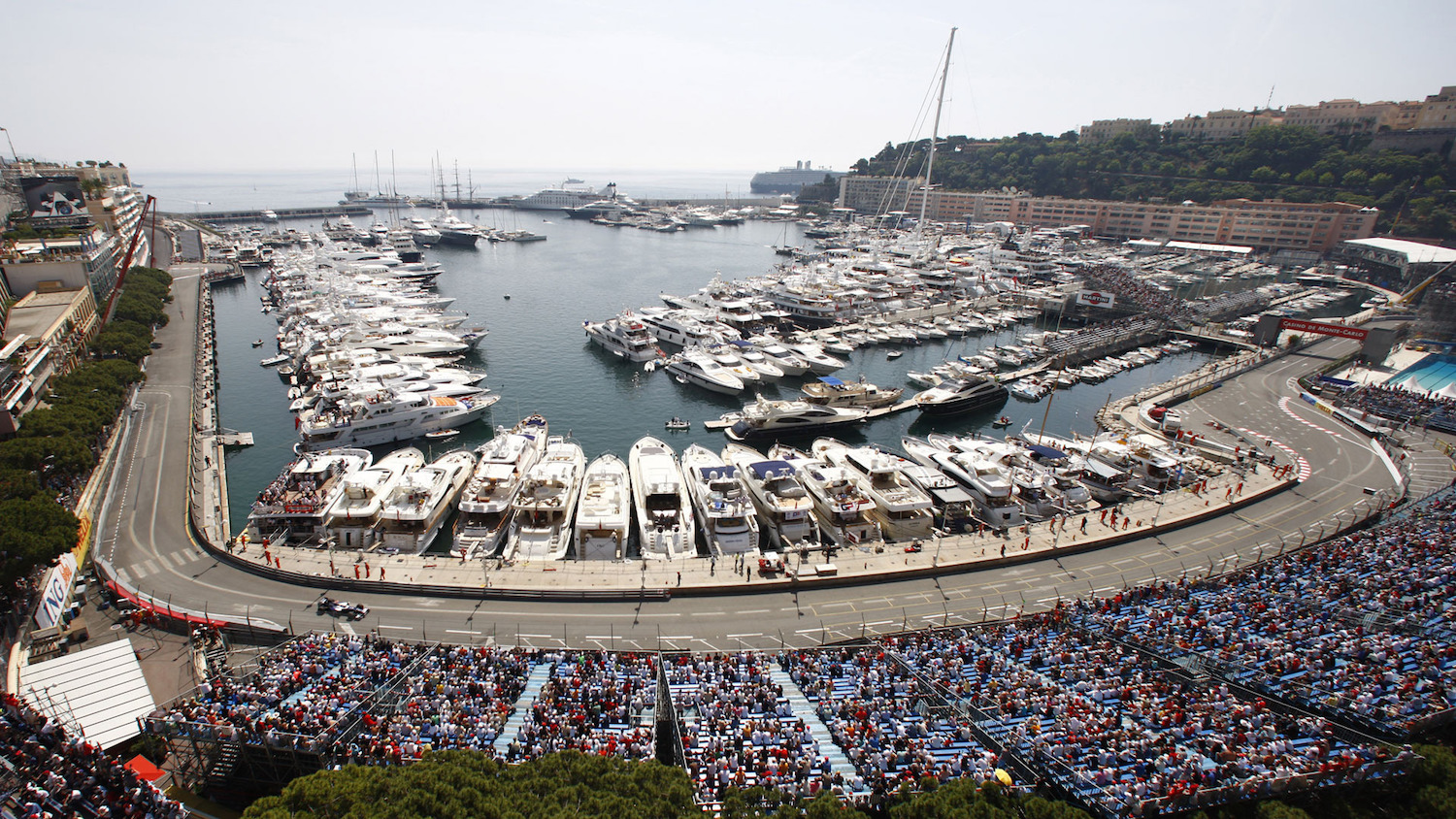 Yachts at the Monaco Grand Prix