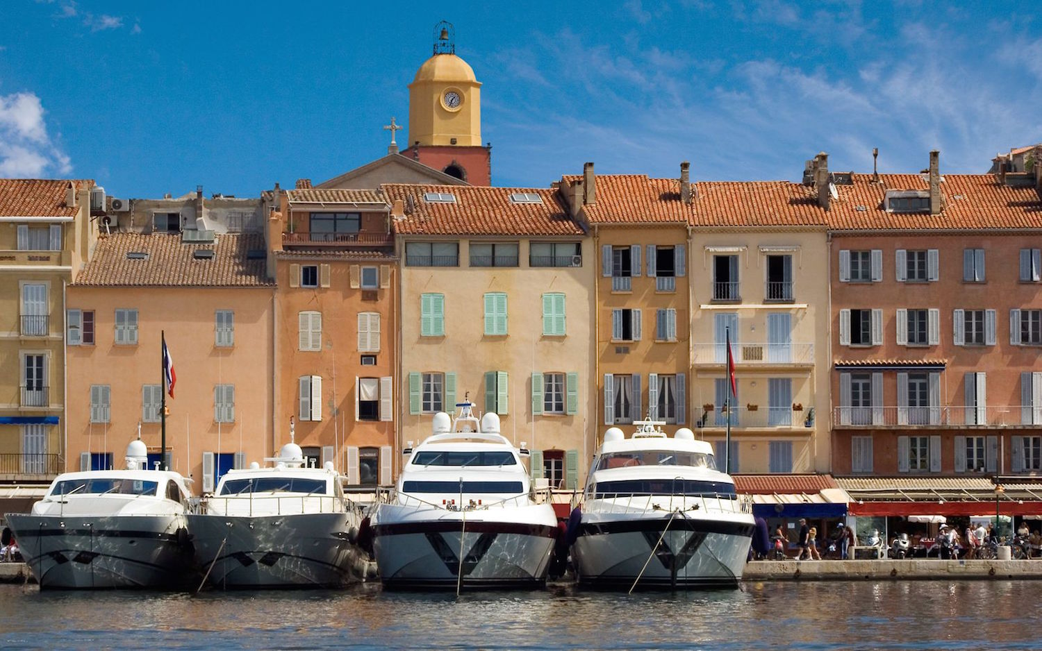 Yachts in the old port of St Tropez