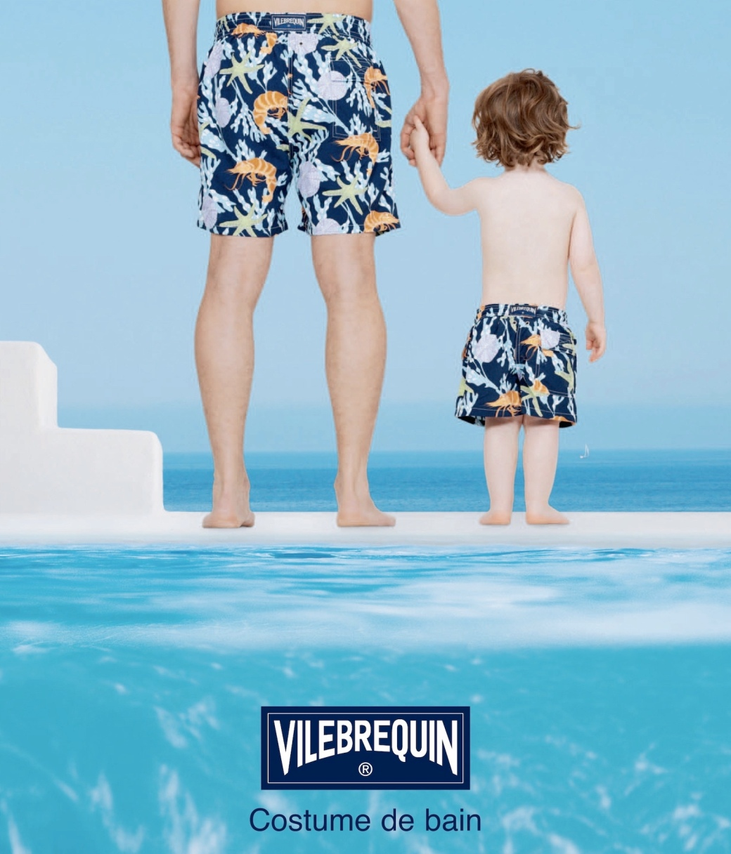 Vilebrequin father and son swimming trunks
