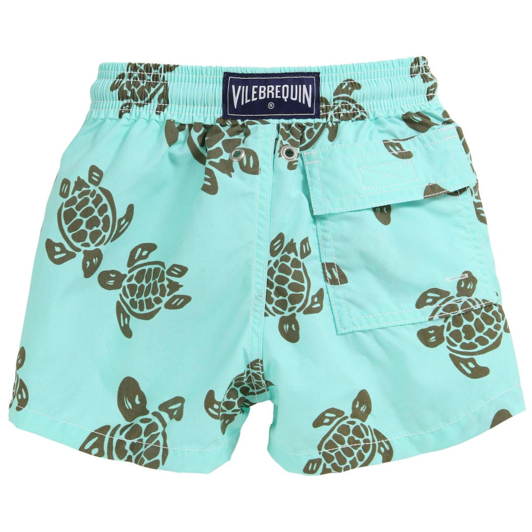 Vilebrequin turtle print kids swimming shorts