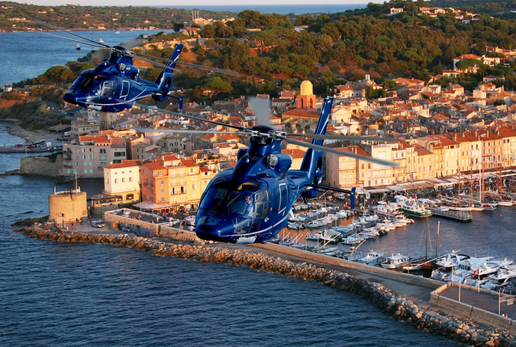 Helicopters over Port of St Tropez