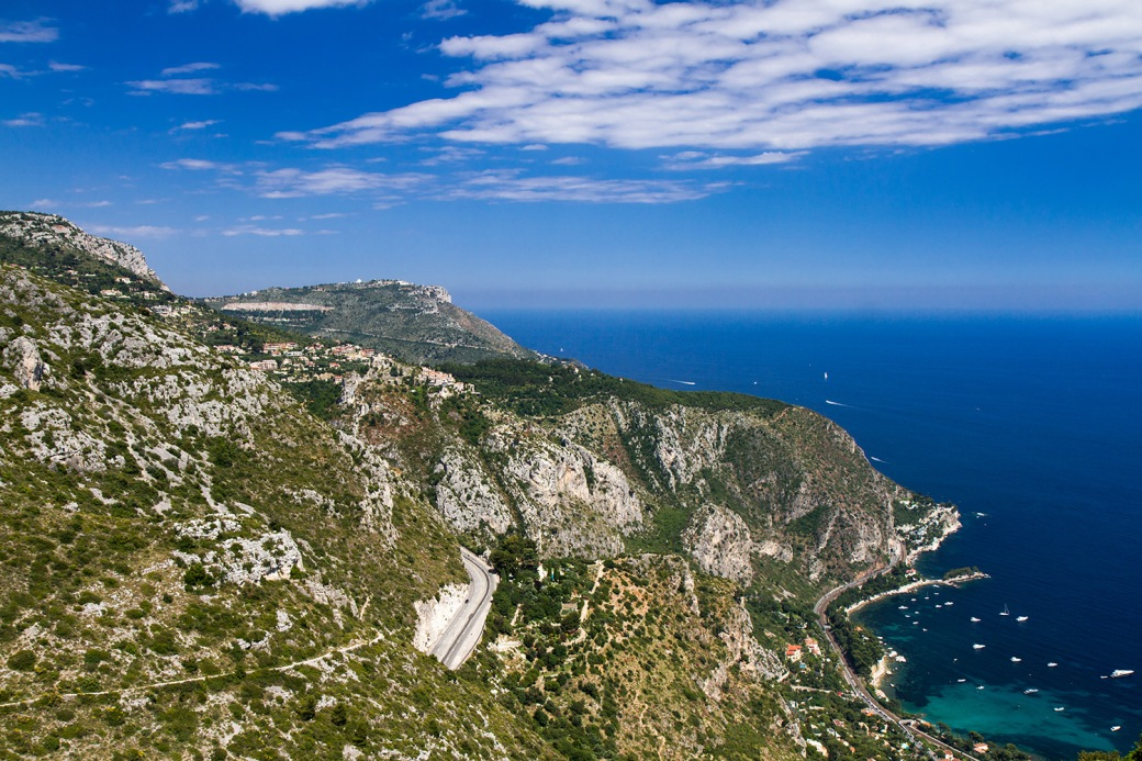 Grande Corniche road on the French Riviera