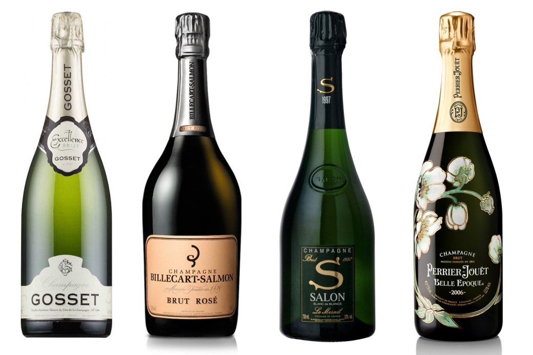 Champagnes - Gosset, Billecart-Salmon, Salon, Perrier Jouet