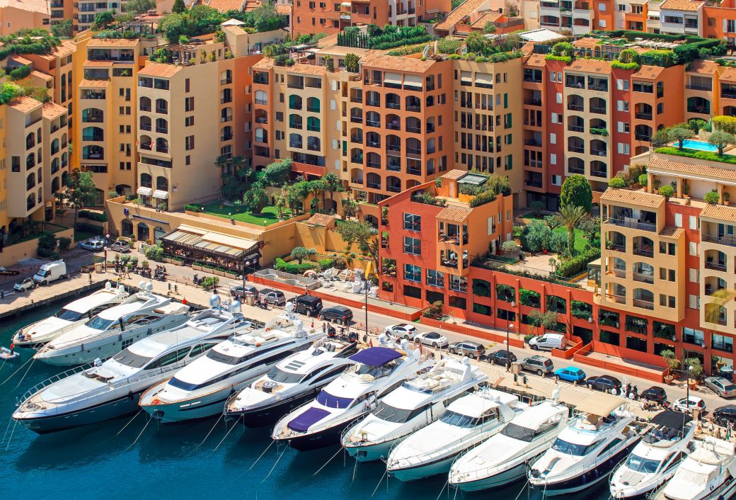 Yachts in Port de Fontvieille, Monaco