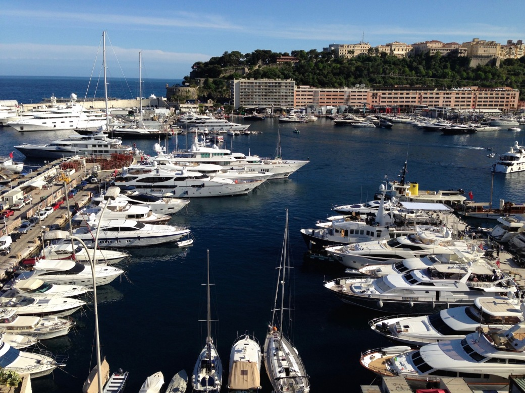Yachts in Port Hercule for the Monaco Grand Prix