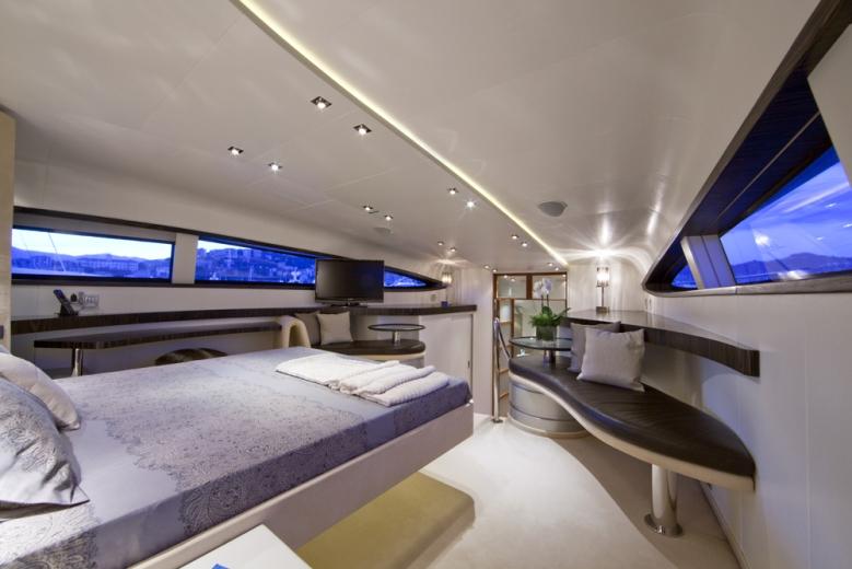 BLUE MAMBA yacht master cabin