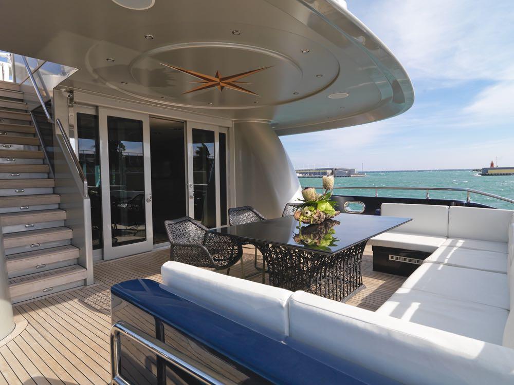 BLUE MAMBA yacht deck