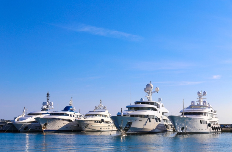 Superyachts in Montenegro
