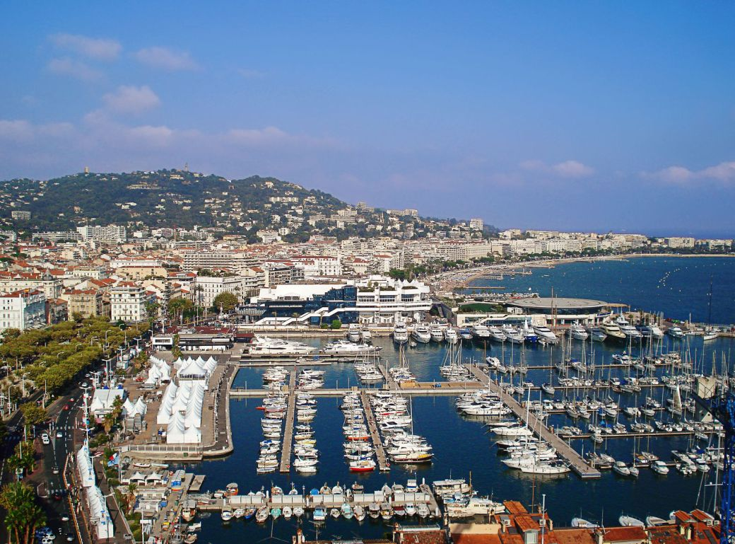 Port de Cannes view from Le Suquet