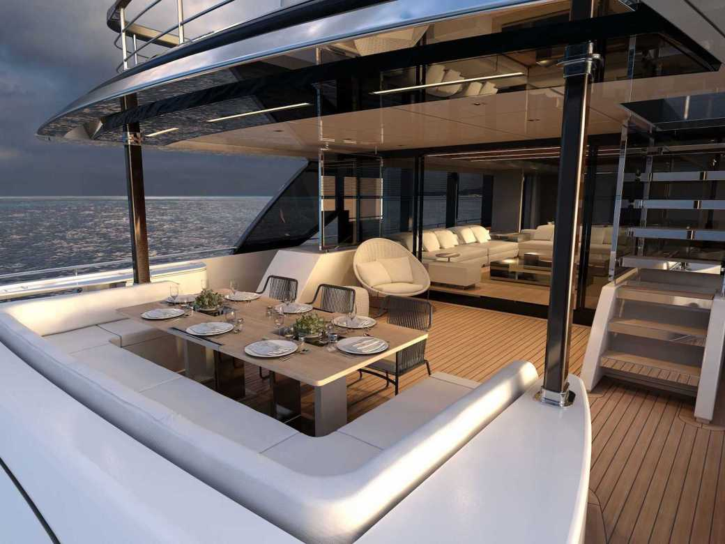 Riva 110 Yacht Aft Deck