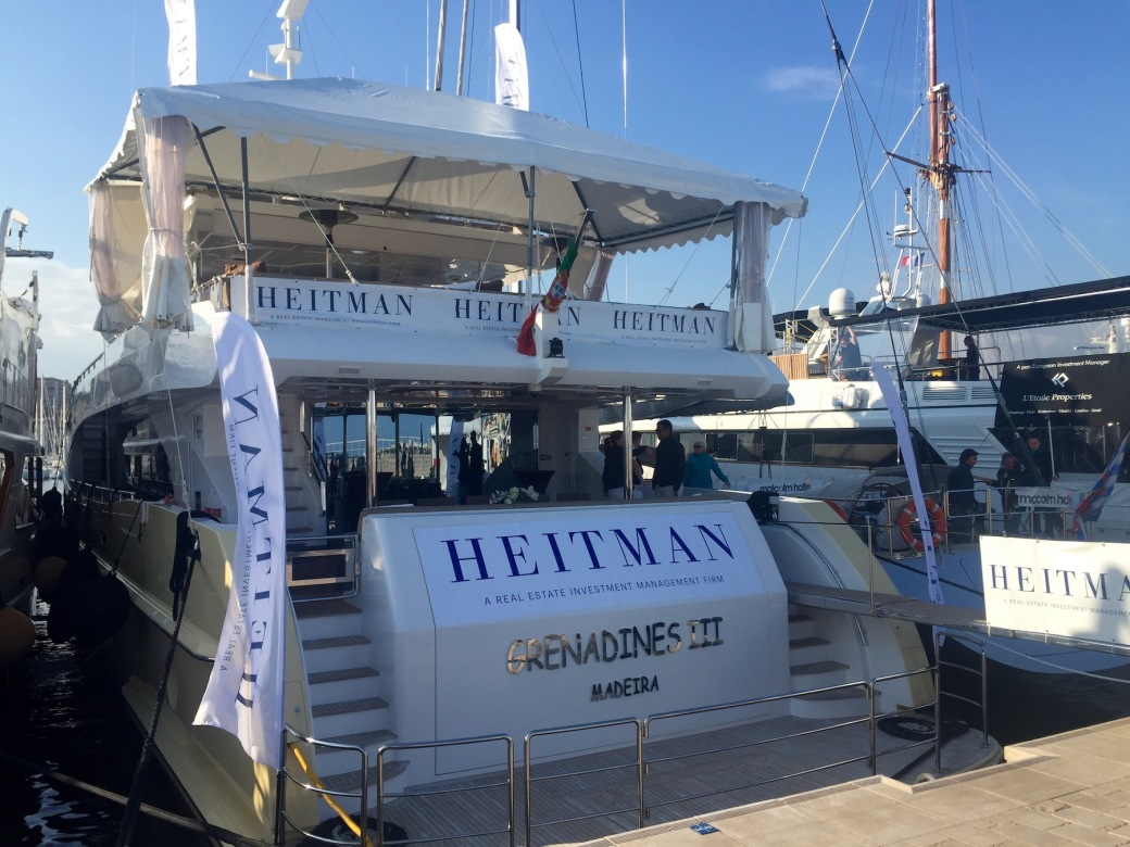 The Heitman yacht at MIPIM 2016 in Cannes, France