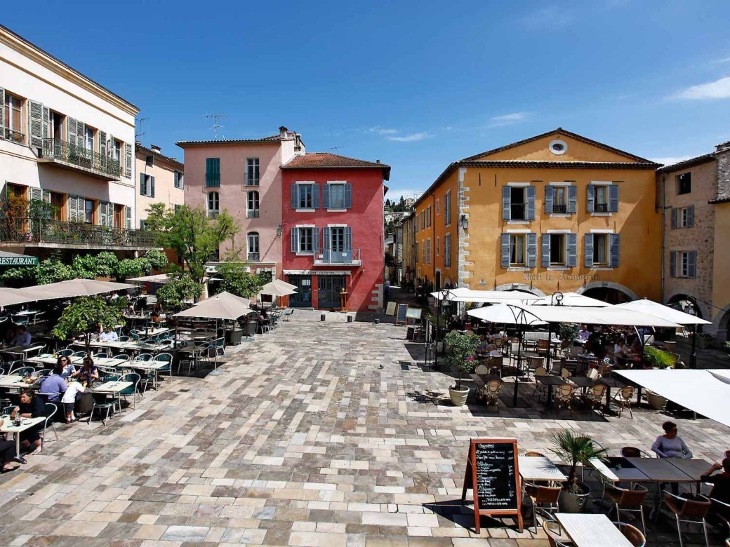 Village square in Valbonne, France