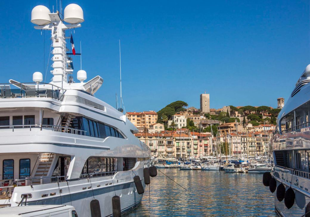 Superyachts in Cannes, France