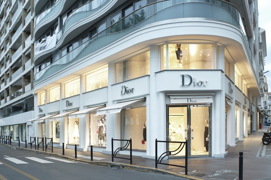 Dior boutique in Cannes, France