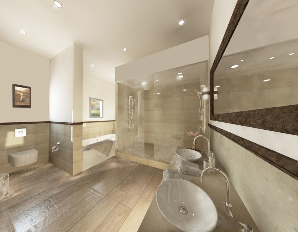 Mougins villa master bathroom