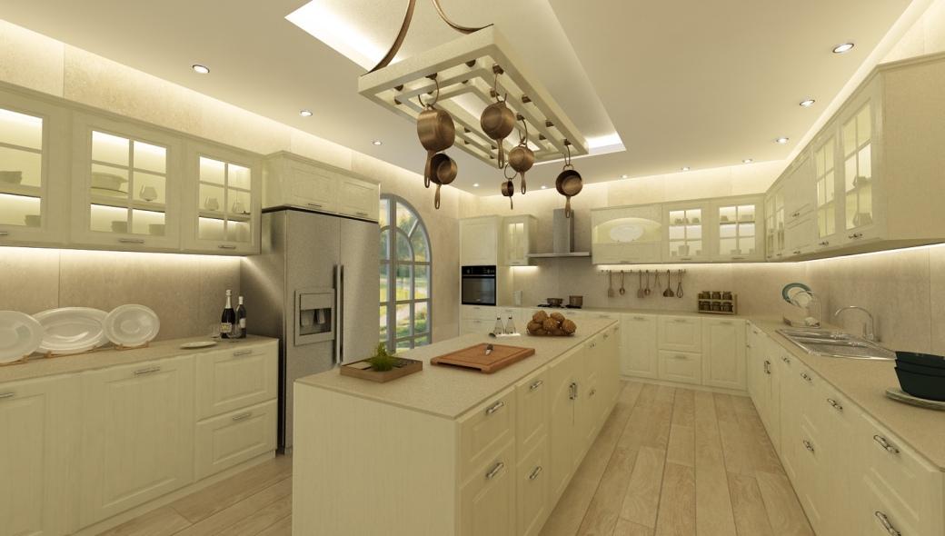Kitchen in villa in Mougins, France