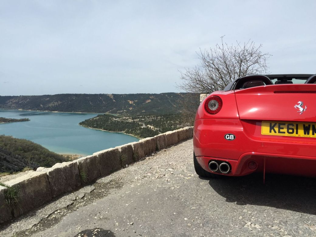 Ferrari tour on the French Riviera at Gorges du Verdon