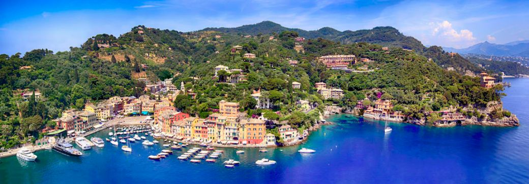 Portofino panorama of the port