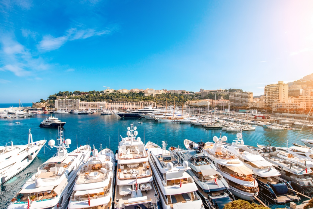 Superyachts in the Port of Monaco