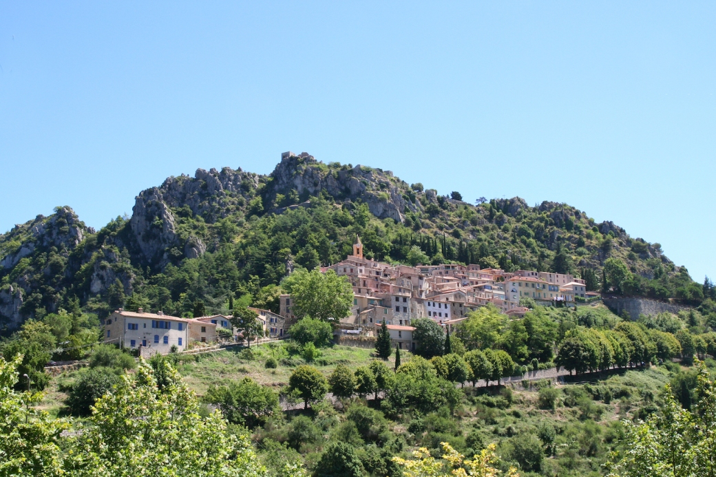 The village of Sainte Agnès on the French Riviera