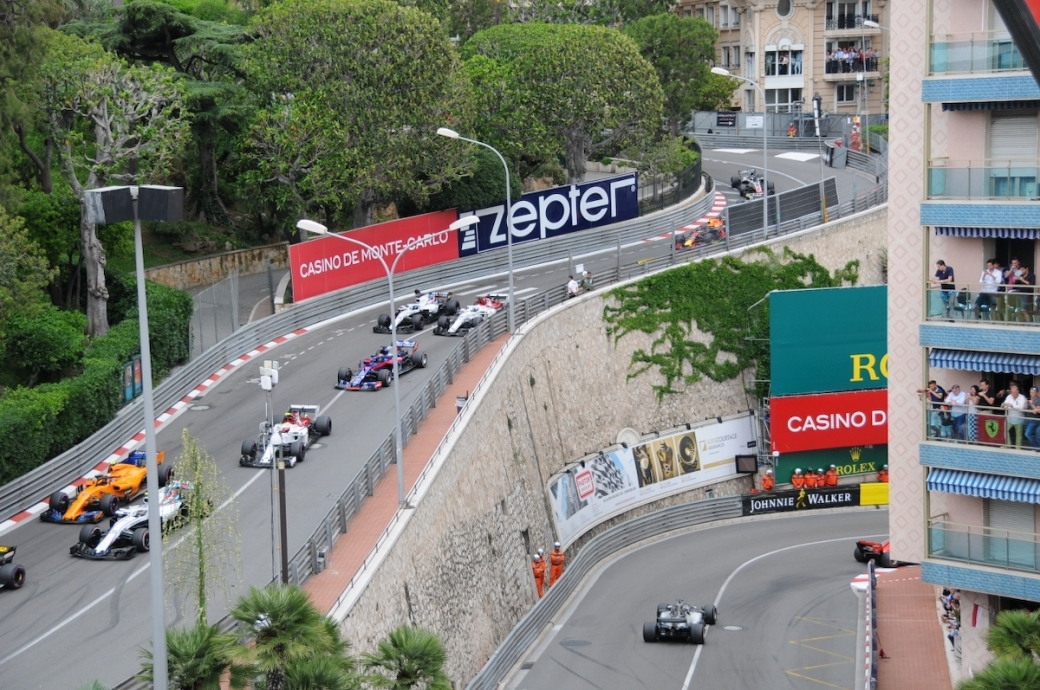 View of the Monaco Grand Prix from the Fairmont Hotel