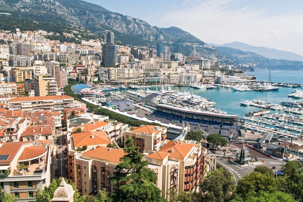 View over Monaco Port during the Monaco Grand Prix