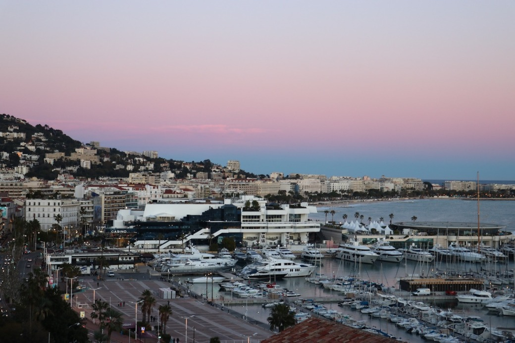 View of the Port of Cannes